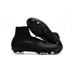 Nike Mercurial Superfly V FG Dynamic Fit Cleat - All Black