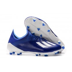 adidas X 19.1 FG Firm Ground Soccer Cleats Blue White