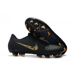 New Nike Phantom Venom Elite FG Black Lux - Black/Metallic Vivid Gold