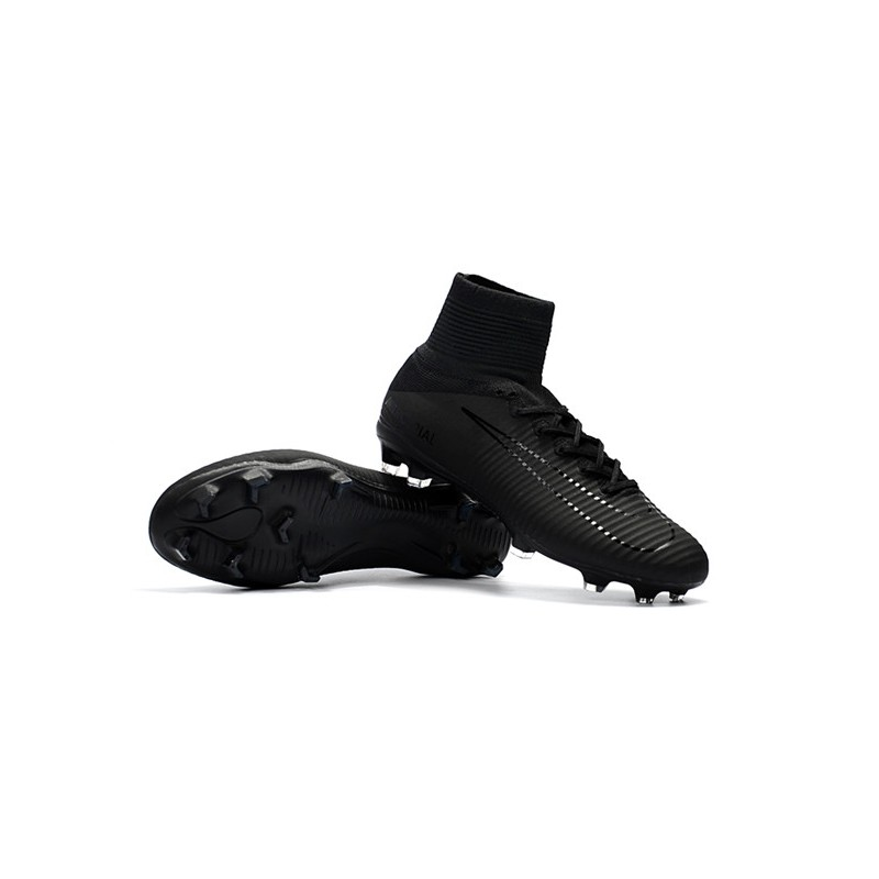 new arrivals 5cb01 94a1a Nike Mercurial Superfly V FG Dynamic Fit Cleat - All Black