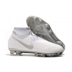 Nike 2019 Phantom Vision Elite DF FG Soccer Cleat White