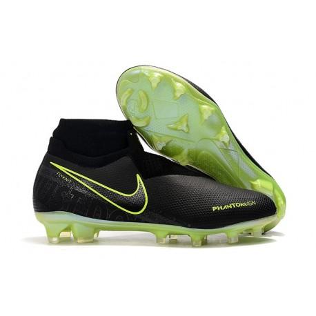 Nike 2019 Phantom Vision Elite DF FG Soccer Cleat Black Volt