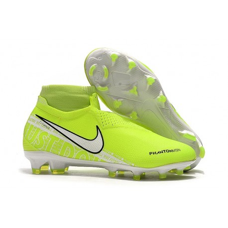 Nike 2019 Phantom Vision Elite DF FG Soccer Cleat Volt White