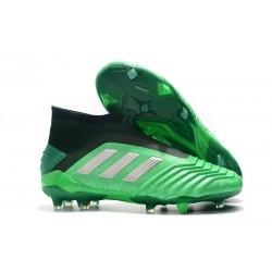 New adidas Predator 19+ FG Soccer Boots - Green Silver