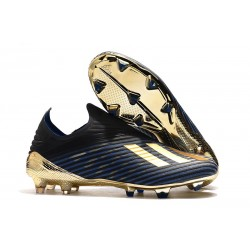 New adidas X 19+ FG Firm Ground Shoes Black Blue Gold