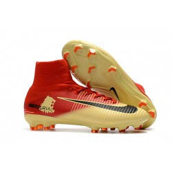 Nike Mercurial Superfly V FG Dynamic Fit Cleat - Red Golden