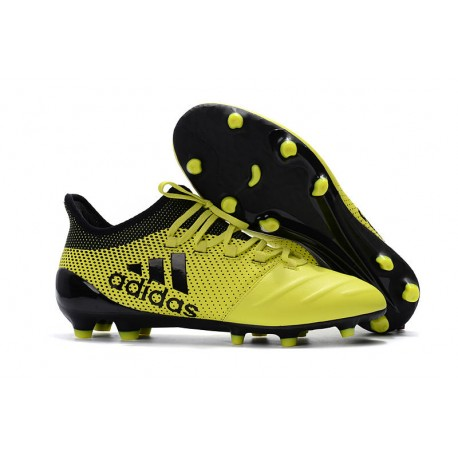 pretty nice 7865d 54971 adidas ACE 17.1 Leather FG Soccer Boots Yellow Black