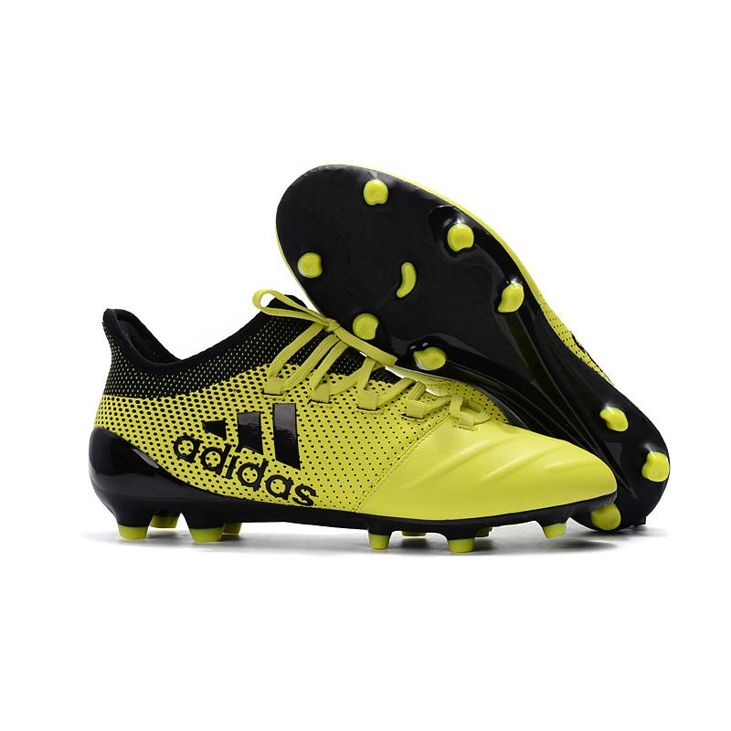 pretty nice 62b24 05f5a adidas ACE 17.1 Leather FG Soccer Boots Yellow Black