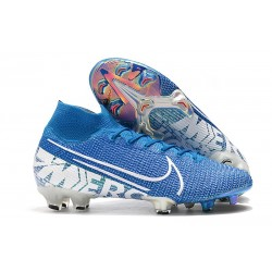 Nike Mercurial Superfly 7 Elite FG Mens Cleats - Blue Hero White Obsidian