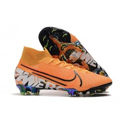 Nike Mercurial Superfly 7 Elite FG Mens Cleats - Orange White Black