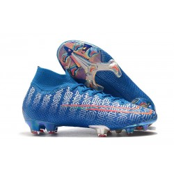 Nike Mercurial Superfly 7 Elite FG Mens Cleats - Blue Red