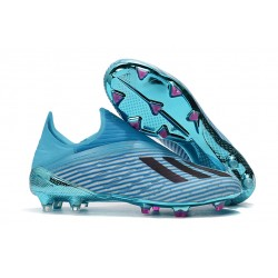 New adidas X 19+ FG Firm Ground Shoes Bright Cyan Black