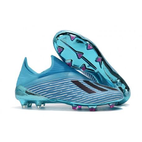 New adidas X 19+ FG Firm Ground Shoes Bright Cyan Black