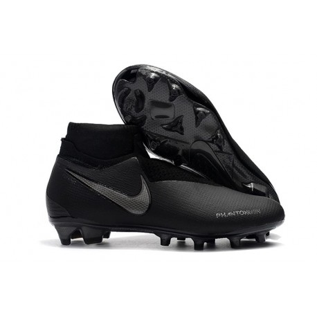 Nike Phantom Vision Elite DF FG Firm Ground Soccer Cleat All Black