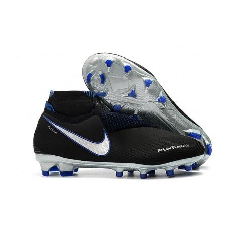 Nike Phantom Vision Elite DF FG Firm Ground Soccer Cleat Black Blue