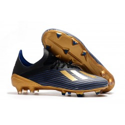 adidas X 19.1 FG Firm Ground Soccer Cleats Core Black Blue Gold