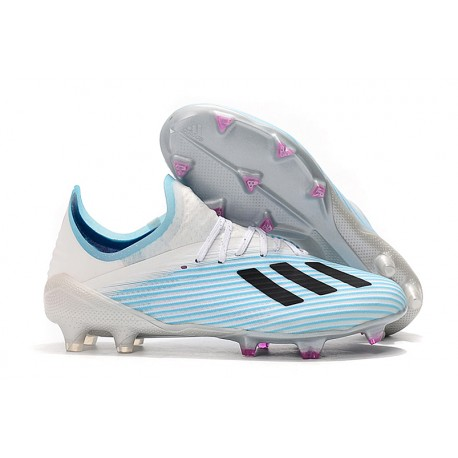 adidas X 19.1 FG Firm Ground Soccer Cleats Blue White Black