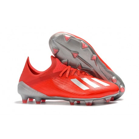 adidas X 19.1 FG Firm Ground Soccer Cleats Crimson Silver