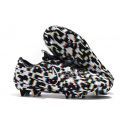 Nike Tiempo Legend 8 FG Leather Cleat - Black White