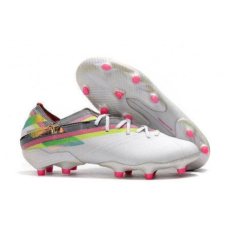 adidas Nemeziz 19.1 FG News Soccer Boots - White Colors
