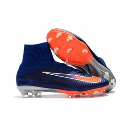 Nike Mercurial Superfly V FG Dynamic Fit Cleat - Blue Orange