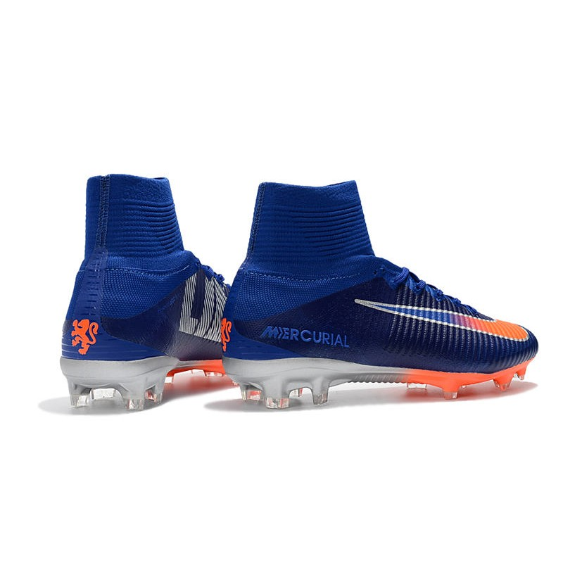 outlet store cf197 c5f79 Nike Mercurial Superfly V FG Dynamic Fit Cleat - Blue Orange