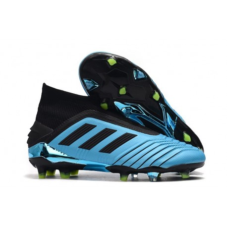 New adidas Predator 19+ FG Soccer Boots - Bright Cyan Black