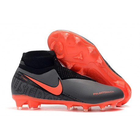 Nike 2019 Phantom Vision Elite DF FG Soccer Cleat Black Crimson