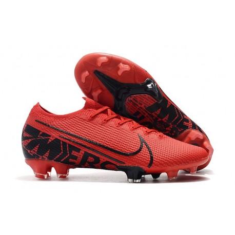 Nike Mercurial Vapor 13 Elite FG New Shoes - Red Black