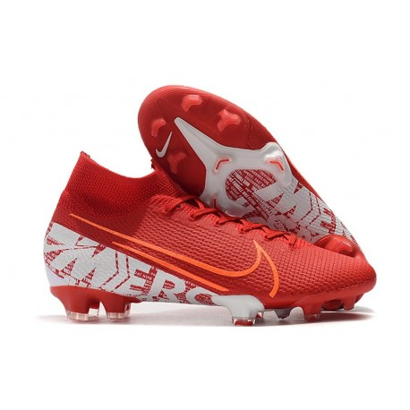 Nike Mercurial Superfly 7 Elite FG Mens Cleats - Red White