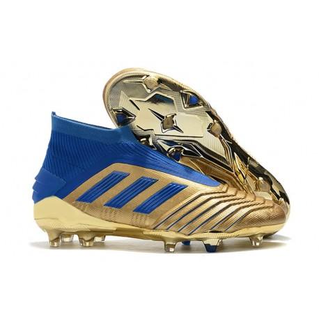 adidas Predator 19+ FG Firm Ground Shoes Gold Blue