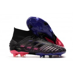 adidas Predator 19+ FG Firm Ground Shoes Black Pink Blue