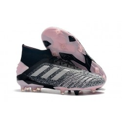 adidas Predator 19+ FG Firm Ground Shoes Black Grey Pink