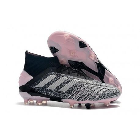 adidas Predator 19+ FG Firm Ground Shoes Black Grey Pink