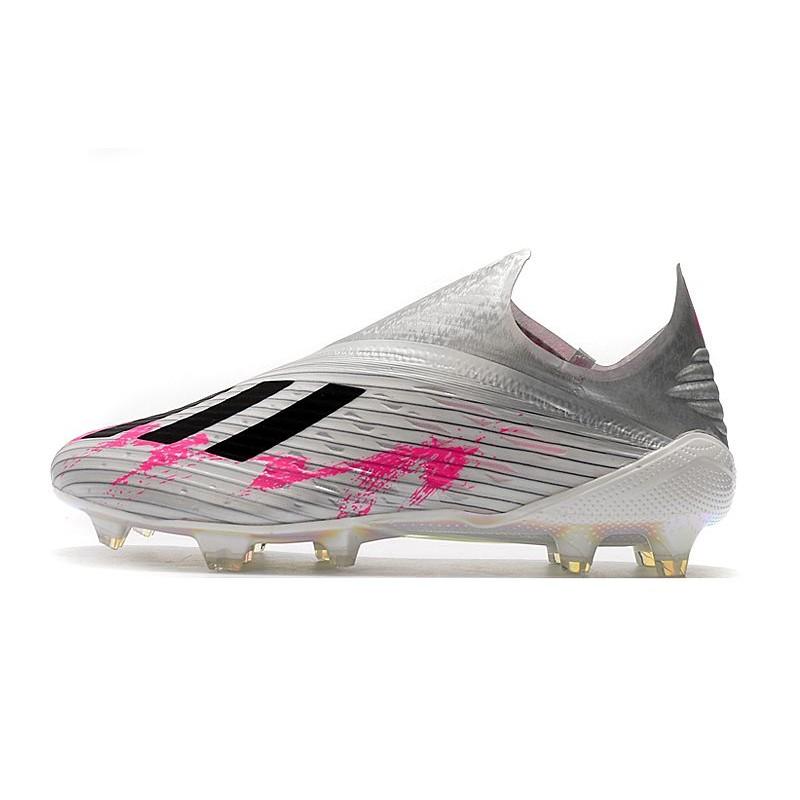 Bien educado En la cabeza de Joven  New adidas X 19+ FG Firm Ground Shoes Silver Black Pink