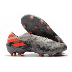 adidas Nemeziz 19.1 FG News Soccer Boots - Grey Solar Orange Chalk