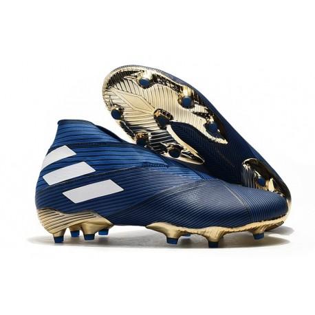 adidas Nemeziz 19+ FG Soccer Cleat Blue White