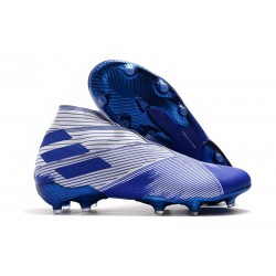 adidas Nemeziz 19+ FG Soccer Cleat Blue White
