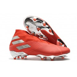 adidas Nemeziz 19+ FG Soccer Cleat Active Red