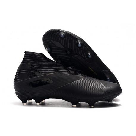 adidas Nemeziz 19+ FG Soccer Cleat Full Black