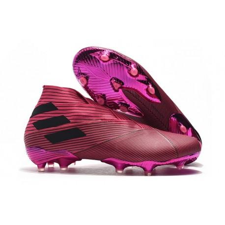 adidas Nemeziz 19+ FG Soccer Cleat Pink Black