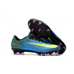 Nike Mercurial Vapor XI FG Men Football Shoes - Blue Yellow
