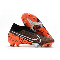 Nike Mercurial Superfly VII Elite SE FG - Black Hyper Crimson