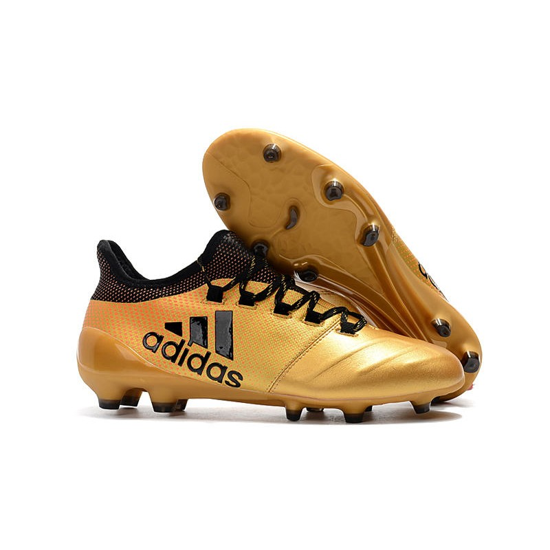 gris católico capturar  adidas ACE 17.1 Leather FG Soccer Boots Gold Black