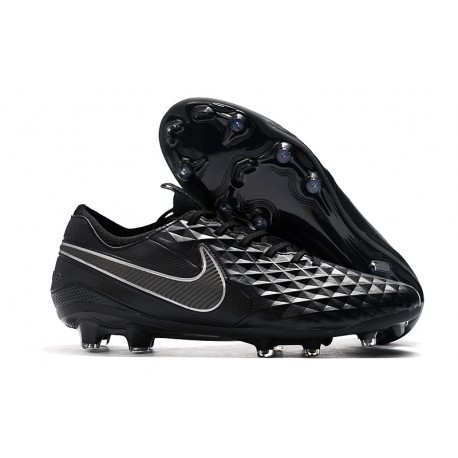 Nike Tiempo Legend 8 FG Leather Cleat -Black