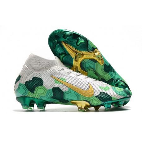 Nike Mercurial Superfly VII Elite SE FG x Mbappé Vast Grey Gold Green