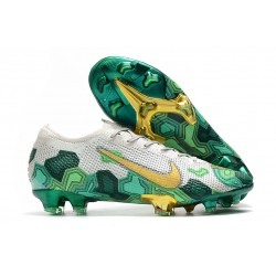 Mbappe Nike Mercurial Vapor XIII Elite FG Grey Gold Green