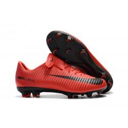 Nike Mercurial Vapor XI FG Men Football Shoes - Red Black