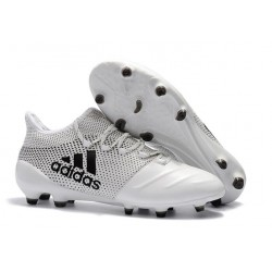 adidas Men's X 17+ PURESPEED FG Soccer Cleats - White Black