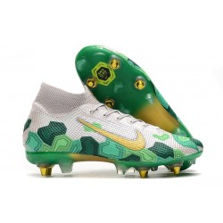 Nike Mercurial Superfly 7 Elite SG-Pro Mbappé Vast Grey Gold Electro Green